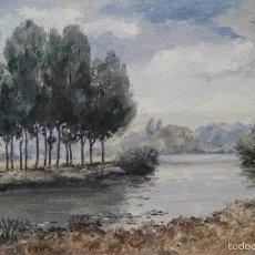 Arte: IRINA OZOLIN ( *1920 - ?, LETONIA ) - PAISAJE DE RIBERA. Lote 28342059