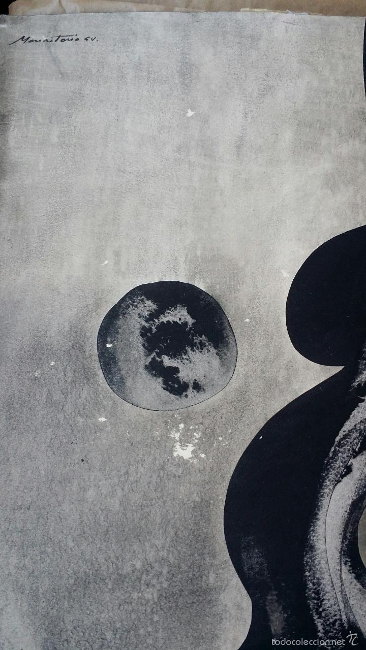 Arte: Alfredo VILA MONASTERIO: gouache y tinta, 1964 / firmado a mano - Foto 2 - 58241425
