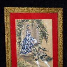 Arte: PINTURA ORIGINAL AL GOUACHE SOBRE PAPEL. ESCENA GALANTE. ENMARCADO. SIN FIRMA. 46 X36 CM. AÑOS 20. Lote 58537713