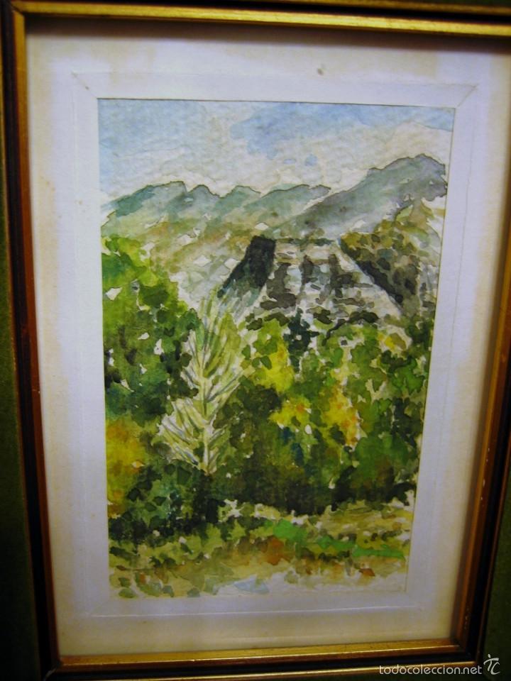 Arte: PAISAJE sierra Espuña- ACUARELA FIRMADA- - Foto 2 - 59659319