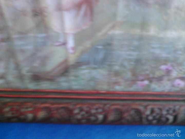 Arte: Pintura (gouache) de mujer, parte de un abanico - pintado en seda - Siglo XIX - Foto 6 - 60185519