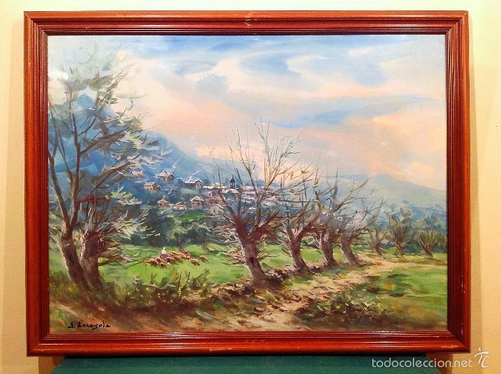 Arte: Acuarela Paisaje Del Pintor Joan Escayola Blanch Medidas 80CM X 60CM - Foto 2 - 60252699