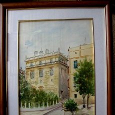 Arte: EXCELENTE ACUARELA. JARDINES DEL PALAU DE LA GENERALITAT. VALENCIA. FIRMADA. Lote 60292663