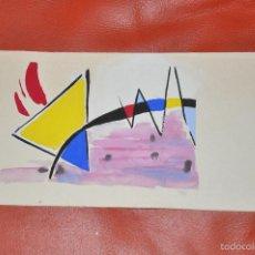 Arte: GOUACHE ORIGINAL , MOVIDA , TEMA ABSTRACCION . Lote 60855819