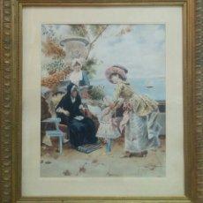 Arte: PRECIOSA ACUARELA S.XIX FIRMADA Y FECHADA 1892.. Lote 60944555