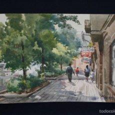 Arte: MARIANO BRUNET (VICH, BARCELONA 1918) ACUARELA SOBRE PAPEL. Lote 96000631