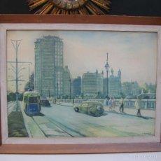 Arte: JOAN TORRABADELL GRANOLLERS, 1913 - 1991 GRAN ACUARELA CUADRO PINTURA. Lote 61272507