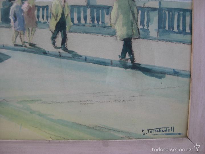 Arte: JOAN TORRABADELL Granollers, 1913 - 1991 GRAN ACUARELA CUADRO PINTURA - Foto 2 - 61272507