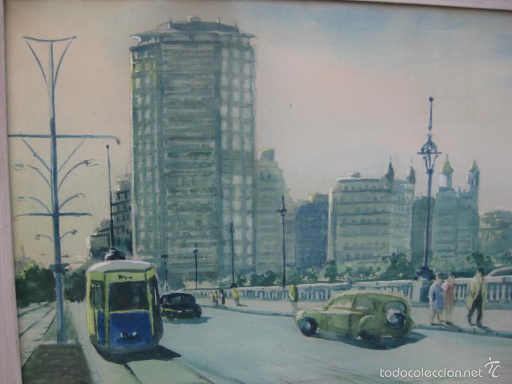 Arte: JOAN TORRABADELL Granollers, 1913 - 1991 GRAN ACUARELA CUADRO PINTURA - Foto 3 - 61272507