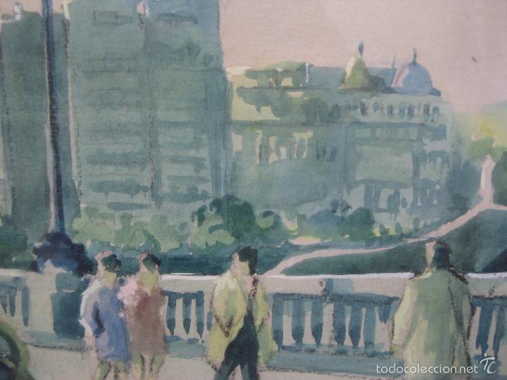 Arte: JOAN TORRABADELL Granollers, 1913 - 1991 GRAN ACUARELA CUADRO PINTURA - Foto 4 - 61272507