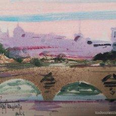Arte: JORDI PAGANS MONSALVATGE. ACUARELA SOBRE PAPEL, ENGANCHADO A TABLA. Lote 59143745