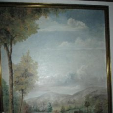 Arte: ANTIGUO CUADRO CON MARCO AL ÓLEO-PAISAJE-GONZALO RIELO-86,5X70,5/79,5X63,5CMS. Lote 61353683