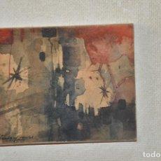 Arte: ACUARELA ORIGINAL , OBRA ABSTRACTA , FIRMADA DE 1981. Lote 61757100