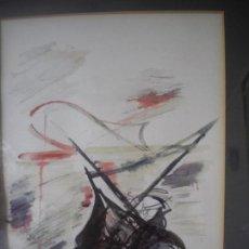 Arte: BONITA MARINA, ACUARELA,TÉCNICA MIXTA, TINTA, CERAS SOBRE PAPEL FIRMADO CRISTOL.. Lote 61989200