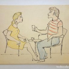 Arte: BONITO BOCETO ORIGINAL POPART, POSIBLEMENTE PARA REVISTA, FINALES DE LOS 60, VINTAGE, RETRO. Lote 62343188