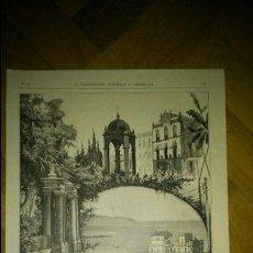 Arte: APUNTES DE LAS PALMAS DE GRAN CANARIA. LA ILUSTRACIÓN ESPAÑOLA Y AMERICANA. 1884 FELIPE VERDUGO. Lote 62406796