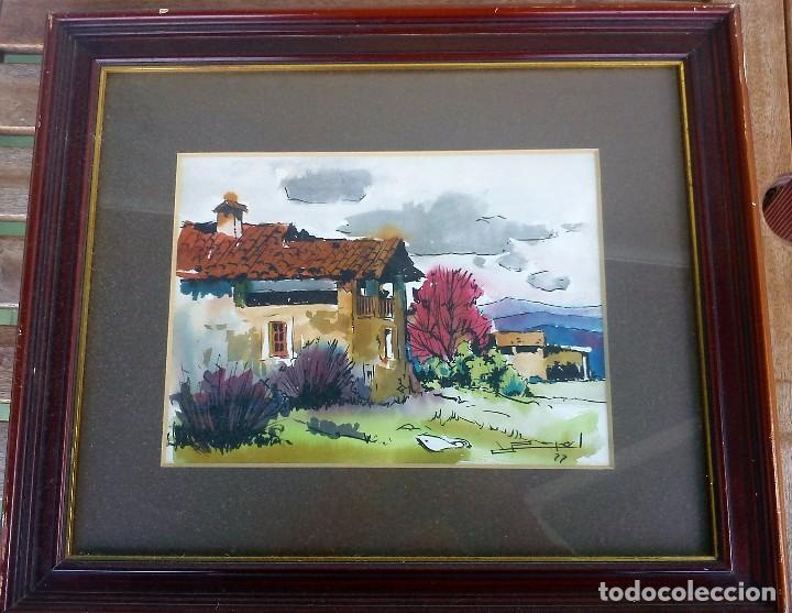 Arte: RAMON PUJOL GRABULOSA acuarela y tinta 24x32 - Foto 2 - 62412720