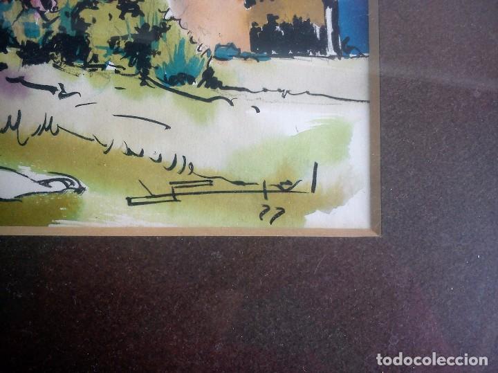 Arte: RAMON PUJOL GRABULOSA acuarela y tinta 24x32 - Foto 3 - 62412720