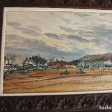 Arte: ACUARELA, PAISAJE, MANUEL MUÑOZ BARBERAN, MURCIA, 1965. Lote 62449712