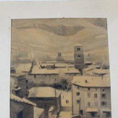 Arte: LA-4 ACUARELA SOBRE PAPEL. FIRMADA QUILLAN, 1939.. Lote 63171012