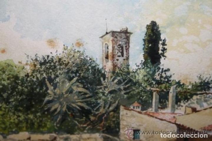 Arte: E3-006. LAVANDERAS. ACUARELA. AUTOR: RAMÓN AMADO BERNADET (1844-1888). - Foto 8 - 35681077