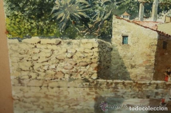 Arte: E3-006. LAVANDERAS. ACUARELA. AUTOR: RAMÓN AMADO BERNADET (1844-1888). - Foto 9 - 35681077