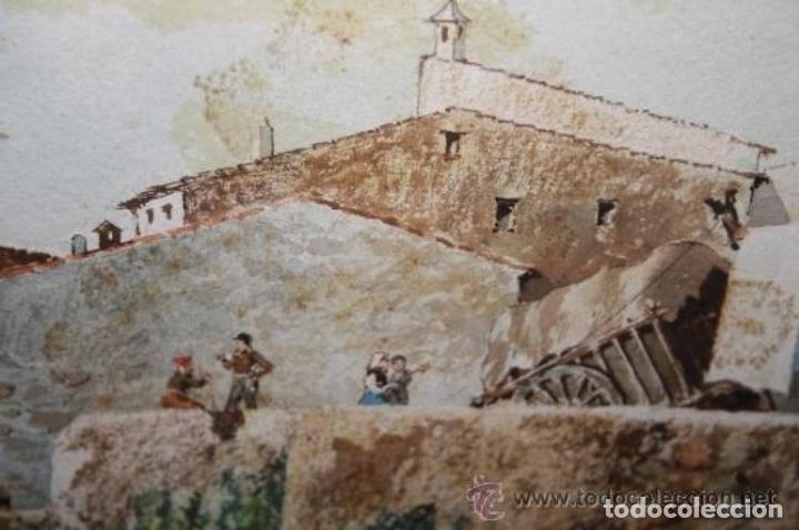 Arte: E3-006. LAVANDERAS. ACUARELA. AUTOR: RAMÓN AMADO BERNADET (1844-1888). - Foto 12 - 35681077