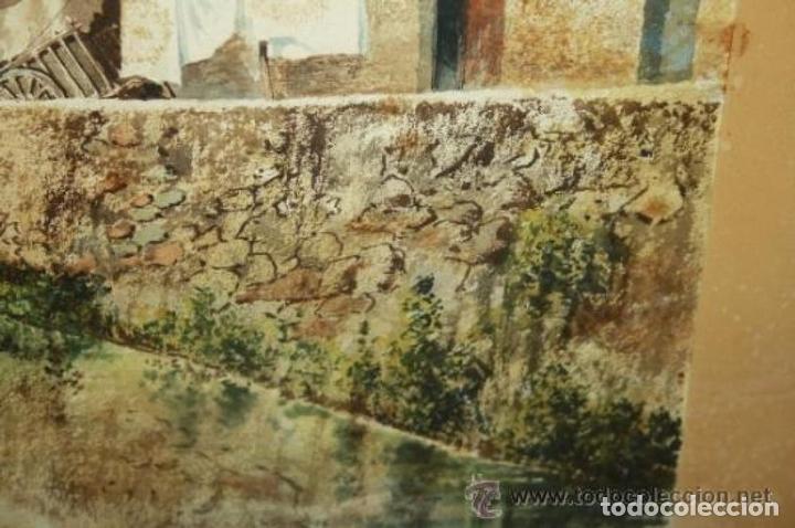 Arte: E3-006. LAVANDERAS. ACUARELA. AUTOR: RAMÓN AMADO BERNADET (1844-1888). - Foto 13 - 35681077