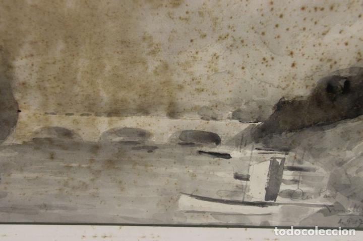 Arte: B3-025. ACUARELA SOBRE PAPEL. MIRALLES-TINTORÉ(?). 1937. - Foto 6 - 43863526
