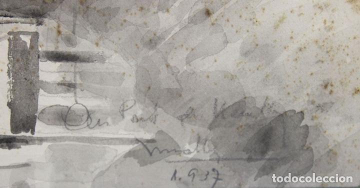 Arte: B3-025. ACUARELA SOBRE PAPEL. MIRALLES-TINTORÉ(?). 1937. - Foto 8 - 43863526