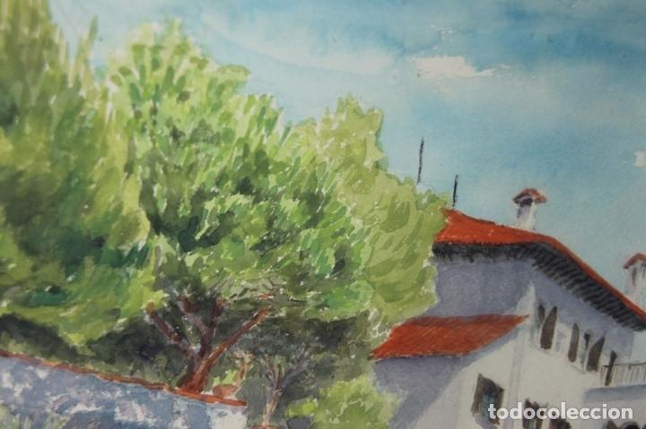 Arte: A1-001 F. CASALS. ACUARELA SOBRE PAPEL. PAISAJE MARITIMO. MED S XX. - Foto 7 - 44169470