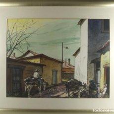 Arte: C4-015. FERNANDO M. NADAL. DIBUJO A LA ACUARELA. UN RINCON SIN IMPORTANCIA. 1985.. Lote 44187985