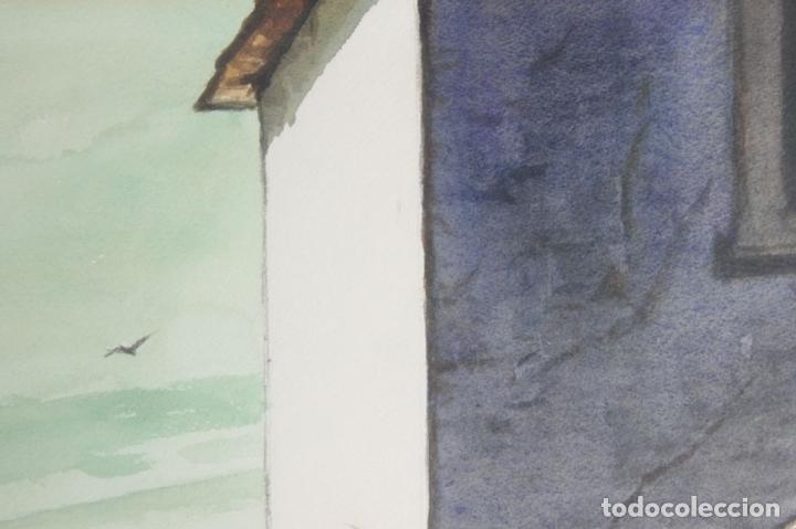 Arte: C4-015. FERNANDO M. NADAL. DIBUJO A LA ACUARELA. UN RINCON SIN IMPORTANCIA. 1985. - Foto 4 - 44187985