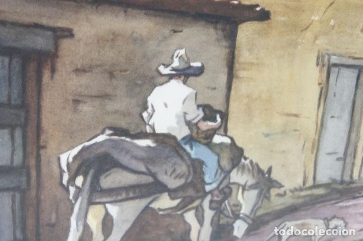 Arte: C4-015. FERNANDO M. NADAL. DIBUJO A LA ACUARELA. UN RINCON SIN IMPORTANCIA. 1985. - Foto 9 - 44187985
