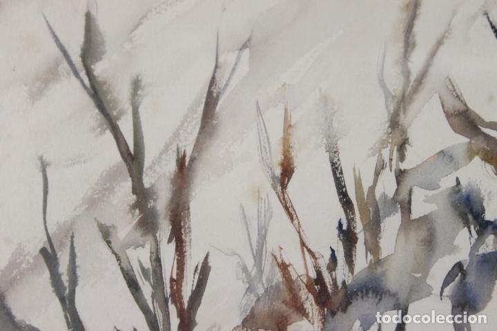 Arte: C3-007. JAIME HIERROS. ACUARELA SOBRE PAPEL. REICHENBACH. 1957. DEDICADO. - Foto 2 - 44201236