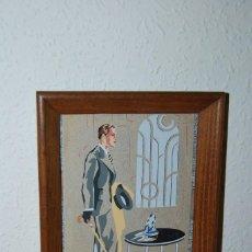 Arte: ORIGINAL GOUACHE - CABALLERO - AÑOS 20-30 - ART DÉCO - BOCETO PUBLICIDAD. Lote 64495351