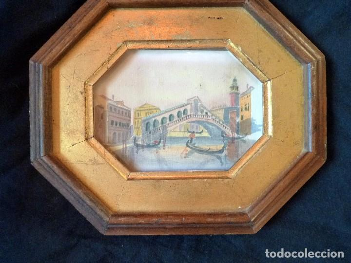 PRECIOSA PINTURA ACUARELA PUENTE RIALTO CANAL GRANDE VENECIA (Arte - Acuarelas - Contemporáneas siglo XX)