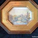 Arte: PRECIOSA PINTURA ACUARELA PUENTE RIALTO CANAL GRANDE VENECIA. Lote 64858247