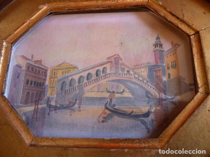 Arte: PRECIOSA PINTURA ACUARELA PUENTE RIALTO CANAL GRANDE VENECIA - Foto 2 - 64858247