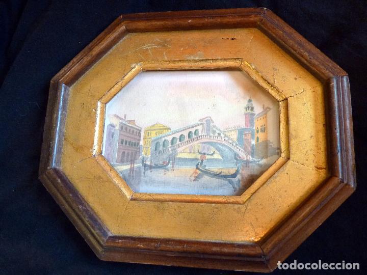 Arte: PRECIOSA PINTURA ACUARELA PUENTE RIALTO CANAL GRANDE VENECIA - Foto 3 - 64858247