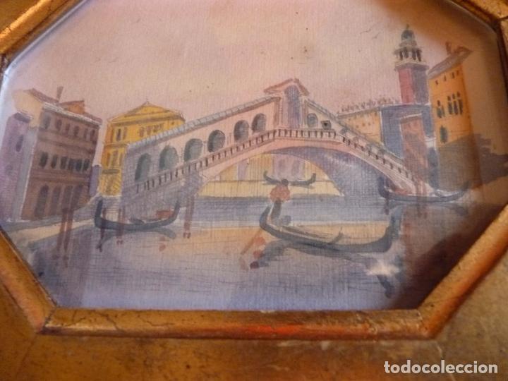 Arte: PRECIOSA PINTURA ACUARELA PUENTE RIALTO CANAL GRANDE VENECIA - Foto 4 - 64858247