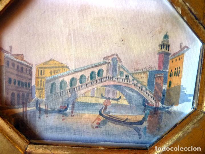 Arte: PRECIOSA PINTURA ACUARELA PUENTE RIALTO CANAL GRANDE VENECIA - Foto 5 - 64858247