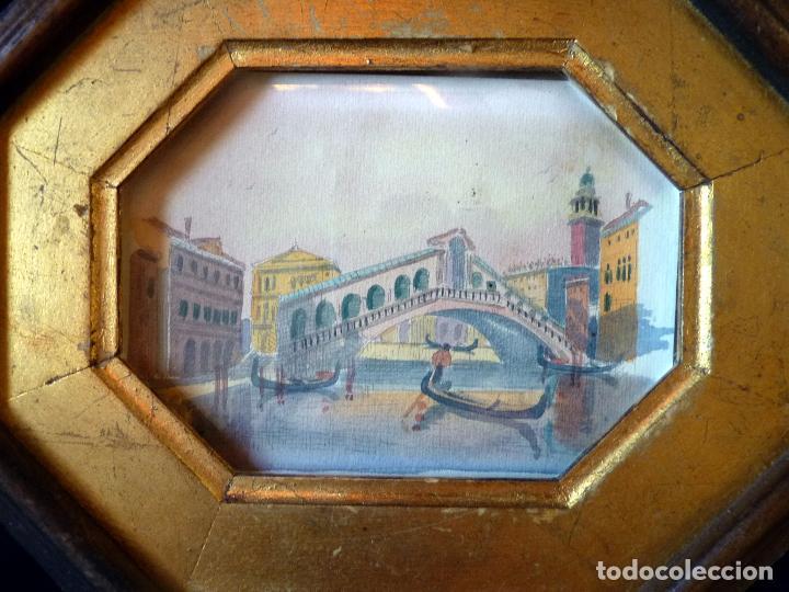 Arte: PRECIOSA PINTURA ACUARELA PUENTE RIALTO CANAL GRANDE VENECIA - Foto 7 - 64858247
