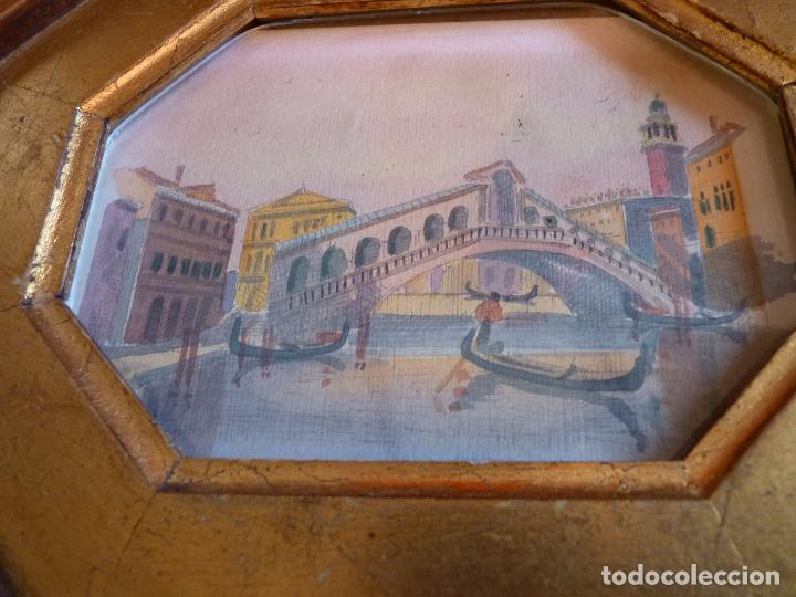 Arte: PRECIOSA PINTURA ACUARELA PUENTE RIALTO CANAL GRANDE VENECIA - Foto 8 - 64858247