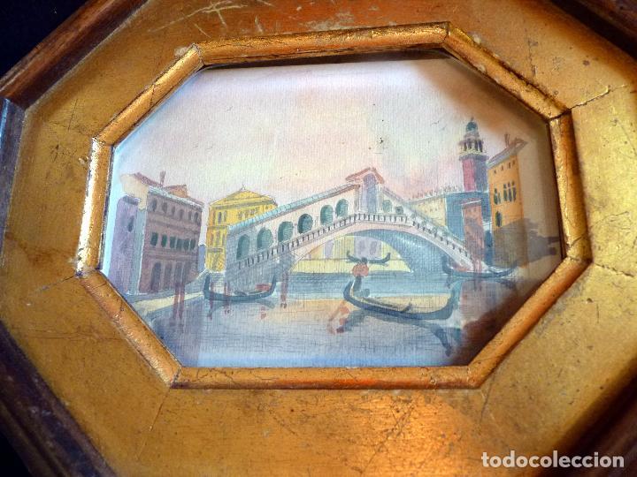 Arte: PRECIOSA PINTURA ACUARELA PUENTE RIALTO CANAL GRANDE VENECIA - Foto 9 - 64858247