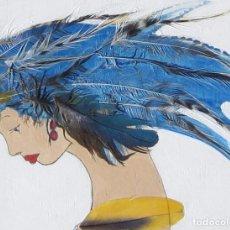 Arte: PINTURA SOBRE TABLA MADERA. Lote 65738194
