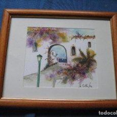 Arte: ACUARELA ENMARCADA - FIRMADA B.CORTES 1991 - MIDE 23X28 CM MARCO INCLUIDO. Lote 67103889