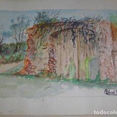 Arte: ACUARELA PERE COLOMER AÑO 1981. Lote 67443393