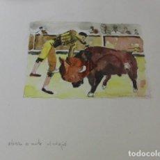 Arte: BALDRICH NAVARRO, ACUARELA ORIGINAL FIRMADA TOROS. Lote 67443761