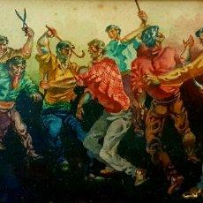 Arte: RARA E INTERESANTE ACUARELA ANTIGUA FIRMADA SORIA?.. Lote 67955135